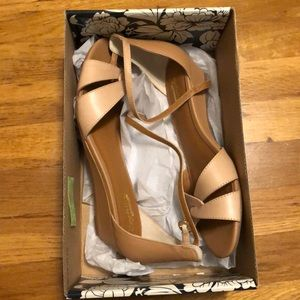 """Seychelles """"Darling"""" sandals in nude. New in box."""